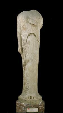 Kore figure dedicated by Cheramyes to Hera, from the Sanctuary of Hera, Samos, c.570-560 BC