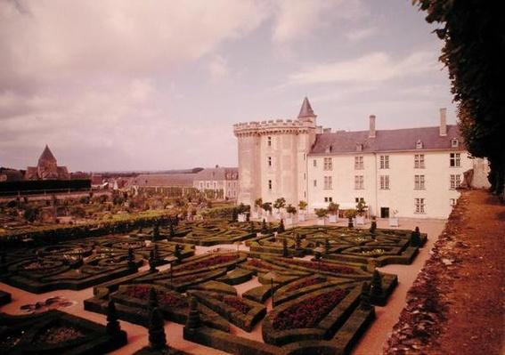 View of the keep and gardens