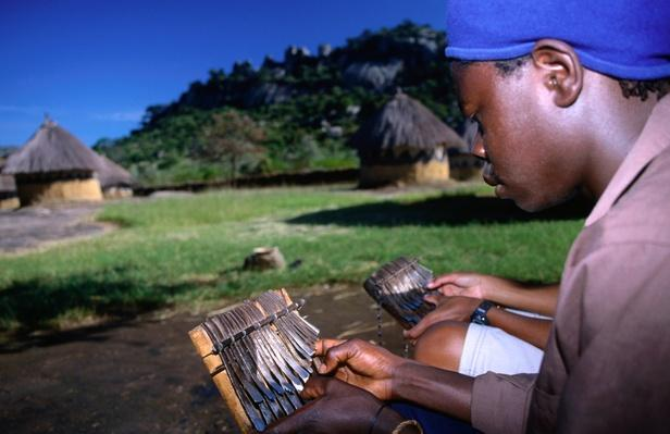 A musician playing the traditional Zimbabwean mbira | Musical Instruments