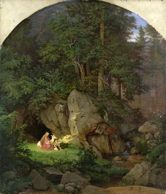 Genoveva in the Wood Clearing, 1839-41