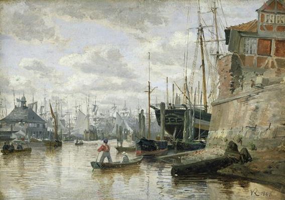 The Log Cabin at Hamburg Harbour, 1848