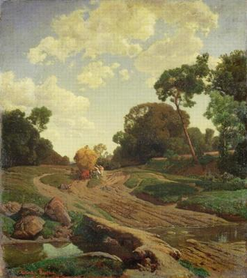 Landscape with Haywagon, c.1858