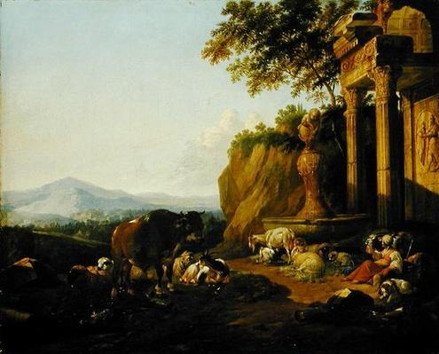 Landscape with a ruin, 1670