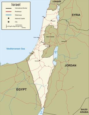 Map of Israel | World Religions: Judaism | Getty Curriculum ...