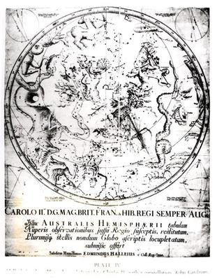 Constellations of the Southern Hemisphere, from the 'Synopsis of Comets' by Sir Edmund Halley