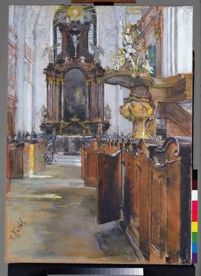 Interior of St. Michaelis in Hamburg, 1890