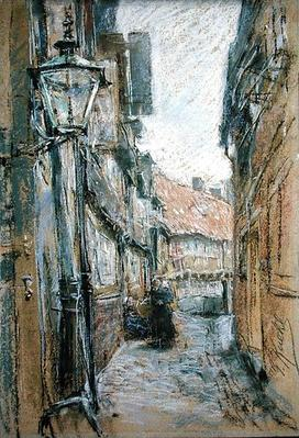 Street at Teilfeld, 1890