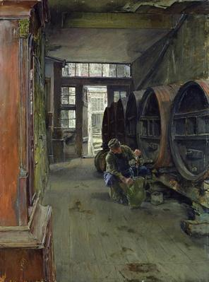 In the Vinegar Factory in Hamburg, 1891