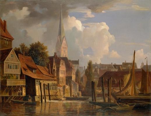 The Kleine Alster in 1842, 1842