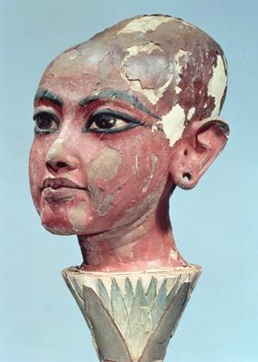 Head of the child king Tutankhamun