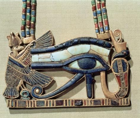 Wedjet eye pectoral, from the tomb of Tutankhamun