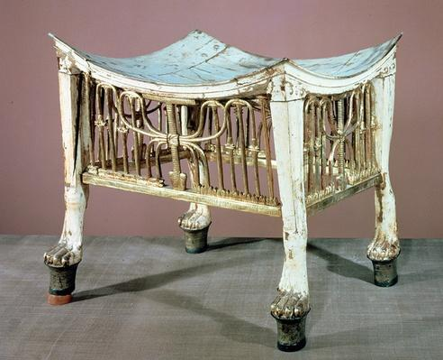 Footstool used by the child-king at the beginning of his reign, from the tomb of Tutankhamun