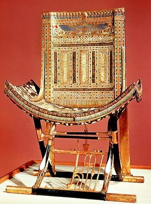 The pharaoh's ecclesiastical throne, from the tomb of Tutankhamun