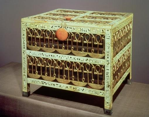 Coffer from the treasury of the tomb of Tutankhamun