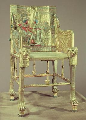 The throne of Tutankhamun