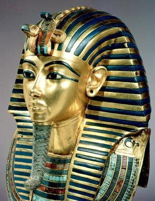 The gold funerary mask, from the tomb of Tutankhamun