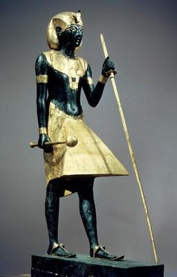 Lifesize statuette of the king, from the tomb of Tutankhamun