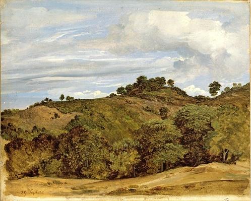 Landscape near Olevano, 1822