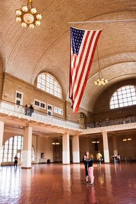 The Great Hall at Ellis island, Museum of American Immigration | U.S. Immigration | 1840's to present | U.S. History