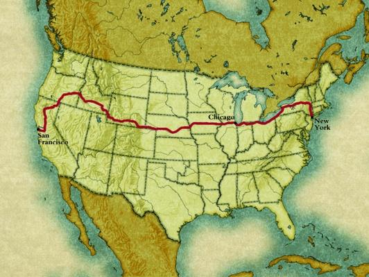 Horatio's Trip Map | Ken Burns: Horatio's Drive