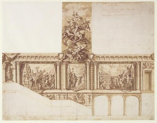 Design for Ceiling Walls and Staircase