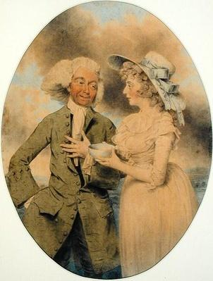 John Edwin and Mrs. Wells as Lingo and Cowslip in the 'Agreeable Surprise', 1787