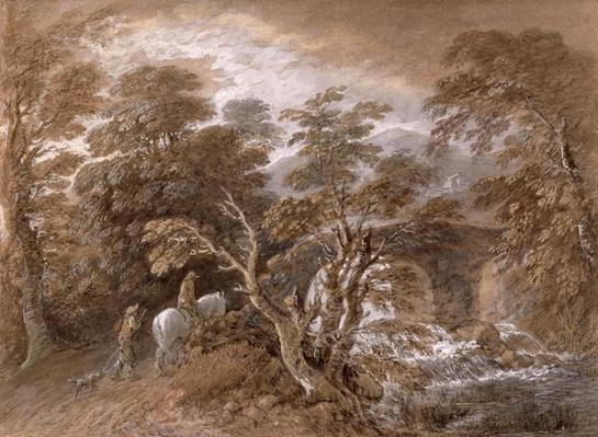 A Woodland Pool with Rocks and Plants, c.1765-70