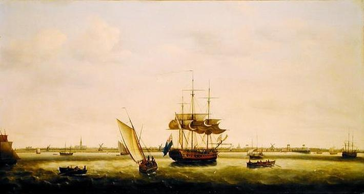 The Frigate 'Surprise' at Anchor off Great Yarmouth, Norfolk, c.1775