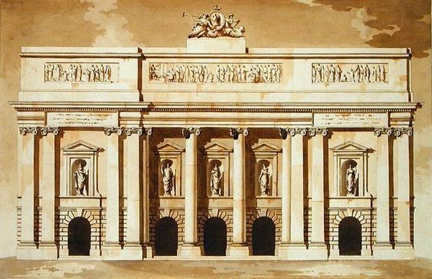 Elevation for the West Front of Parliament House, Dublin, c.1787
