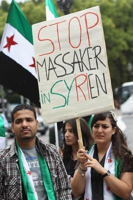 Activists Protest Iranian Support Of Syrian Government | Conflicts: Syria