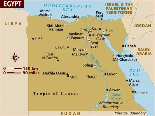 Map of Egypt | Arab Spring