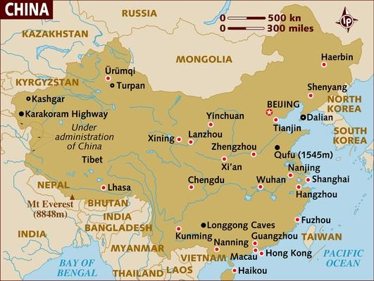 Map of China | World Religions: Confucianism