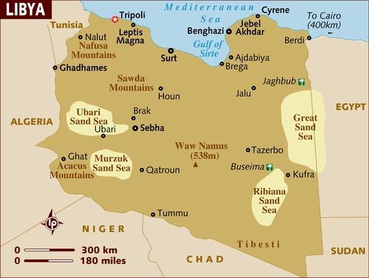 Map of Libya | Arab Spring