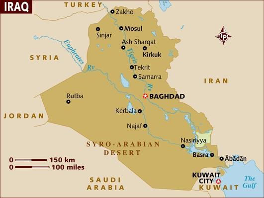 Map of Iraq | Arab Spring
