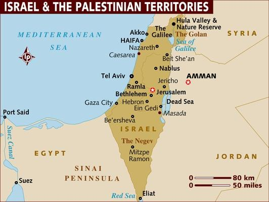 Map of Israel and the Palestinian Territories | World Religions: Christianity