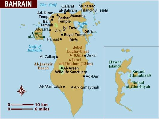 Map of Bahrain | Arab Spring
