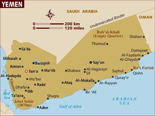 Map of Yemen | Arab Spring