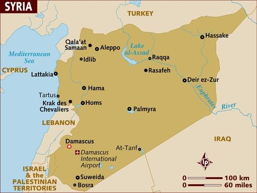 Map of Syria | Conflicts: Syria