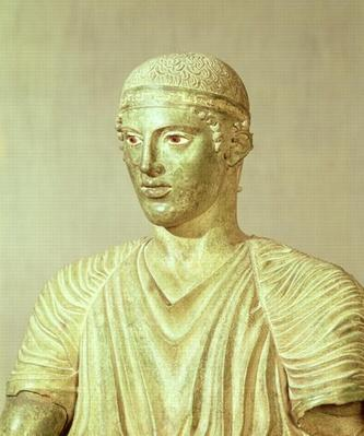 Detail of the Delphi Charioteer, c.470 BC