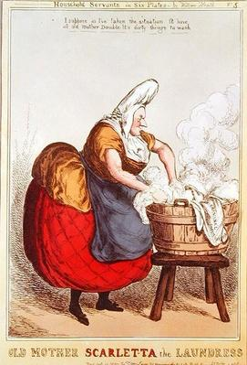Old Mother Scarletta the Laundress, no.5 from the series 'Household Servants', published in 1829
