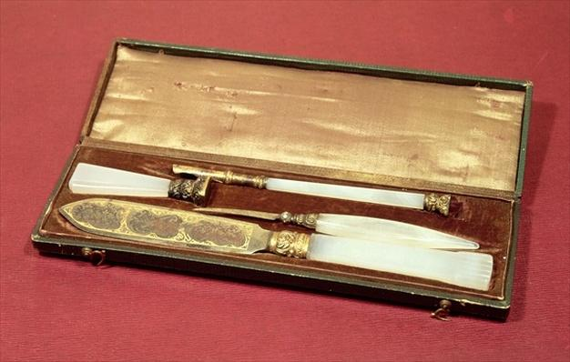Writing set given to his wife, Eveline Hanska by Honore de Balzac