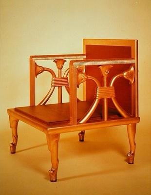 Reconstruction of the chair of Queen Hetepheres, from her tomb at Giza, c.2600 BC