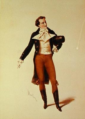 The Actor Bressant as Humbert in 'Le Lion Amoureux' by Theodore de Banville