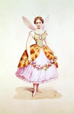 Girl in a bee costume, the Bonaparte emblem, as worn at a fancy dress party given by Napoleon III and Empress Eugenie, 9th February 1863