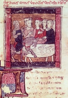 4697 Fr. 110 f.405 Galahad comes to Arthur, c.1250-80