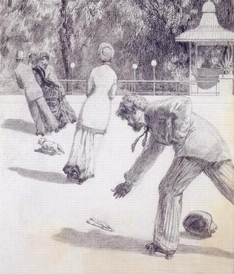 Action from 'Paraphrase on the Discovery of a Glove', pub. 1881, 1878