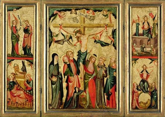Triptych depicting the Crucifixion of Christ, c.1350