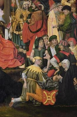 The Soldiers Drawing Lots for Christ's Clothes, detail from The Crucifixion, c.1500