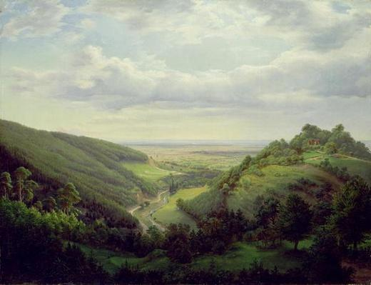 View from the Heilenberg Castle at Jugenheim on the Rhine, 1846