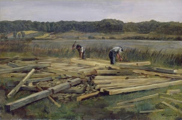 Building Site at Wesslingersee, 1876